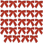 Red Christmas Bows 4 1/4in 24ct