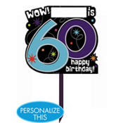 The Party Continues 60th Birthday Yard Sign 14in x 15in