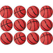 Basketball Bouncing Balls 12ct