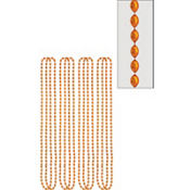 Orange Bead Necklaces 32in 8ct