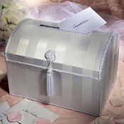 Wedding Reception White Chest Card Box