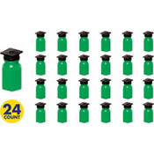Grad Cap Green Bubbles 24ct<span class=messagesale><br><b>29¢ per piece!</b></br></span>