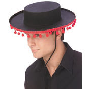 Spanish Hat with Pom Poms