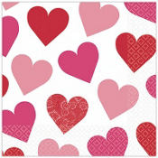 Key To Your Heart Valentines Day Lunch Napkins 16ct