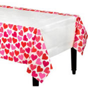Key To Your Heart Valentines Day Paper Table Cover 54in x 102in