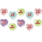 Conversation Heart Cutouts 3 3/4in 10ct