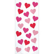 Key To Your Heart Treat Bags 11in x 5in 20ct
