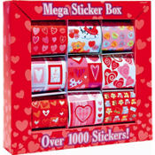 Valentines Day Mega Sticker Box 1000ct
