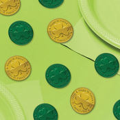 Green and Gold Coin Table Sprinkles 100ct