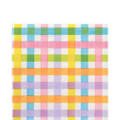 Colorful Gingham Lunch Napkins 16ct