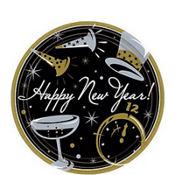Black Tie New Year's Dessert Plates 50ct