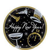 Black Tie New Year's Dessert Plates 50ct