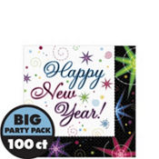 Night Lights New Years Beverage Napkins 100ct