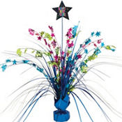 Jewel Tone Spray New Years Centerpiece 15in