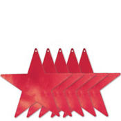 Red Star Cutouts 15in 5ct