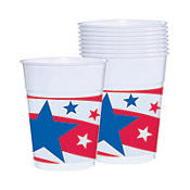 Patriotic Plastic Cups 14oz 50ct