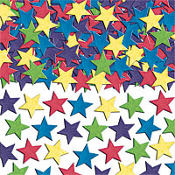 Mini Star Paper Confetti 2oz