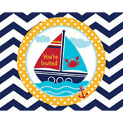Ahoy Nautical Invitations 8ct