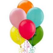 Assorted Color Latex Balloons 12in 72ct