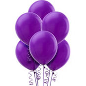 New Purple Latex Balloons 12in 15ct
