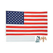 Flag Pole Kit with American Flag 6ft
