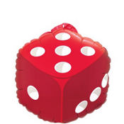 Foil Dice Balloon 18in