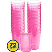 Transparent Pink Plastic Tumblers 10oz 72ct