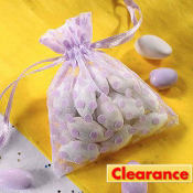 Lavender Dot Organza Baby Shower Favor Bags 12ct