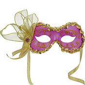 Purple Angelina Masquerade Mask