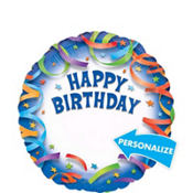 Happy Birthday Balloon - Personalized Celebration