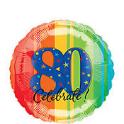 A Year to Celebrate 80th Birthday Foil Balloon 18in