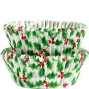 Winter Holly Baking Cups 50ct