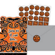 Gothic Greetings Halloween Invitations Value Pack 20ct
