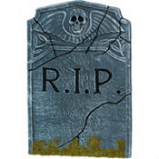 Skeleton Angel Tombstone Decoration 22in