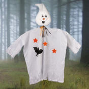 Fabric Ghost Garden Stake 19in