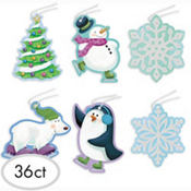Frosty Tape-On Gift Tags 36ct