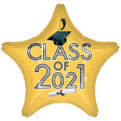 Class of 2013 Gold Star Graduation Balloon 19in