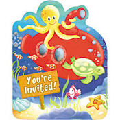 Deep Sea Fun Jumbo Invitations 8ct