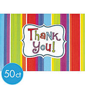 Celebration Stripe Thank You Notes 50ct