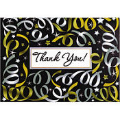 Silver Streamer Thank You Notes 20ct