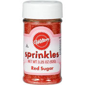 Red Sugar Sprinkles 3.25oz
