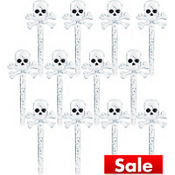 Skull & Crossbones Party Picks 12ct