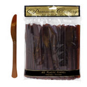 Chocolate Brown Premium Plastic Knives 48ct
