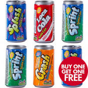 Fizzy Candy Soda Cans 6ct