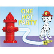 Firefighter Invitations for 8