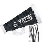 Pull String Black Megaphone Pinata 18in
