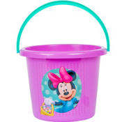Plastic Minnie Mouse Easter Bucket 7 1/2in