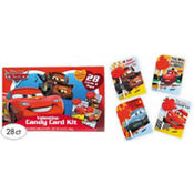 Cars Classroom Valentines Candy Card Kit 30ct