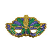 3D Mardi Gras Cat Mask Decoration 31in