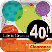 Life is Great 40 Square Lunch Plate 8ct